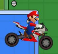 Mario Bike Course: Mario rides a motorcycle through the area