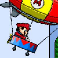 Mario Zeppelin 2: Mario collects coins with a Zeppelin.