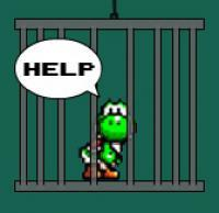 Save Yoshi: Unfortunately, Yoshi was caught by Bowser. Save him.