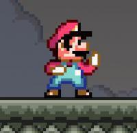 Super Mario Combat: Mario uses his fists to fight through the levels.
